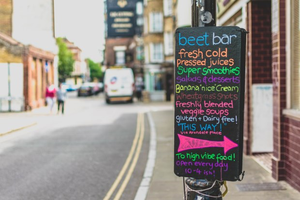 Beet Bar sign in New Street Margate