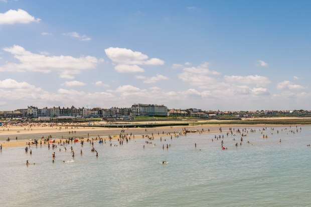 In the sea on Margate beach